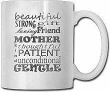 Moderne Kaffeetasse, modisch zum Muttertag,