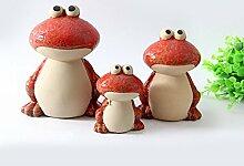 Moderne Keramik kreative Cartoon cute frog Garten kleiner Garten Ornamente Persönlichkeit Dekoration basteln, roter Anzug