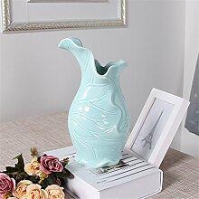 Moderne Keramik Vase Wohnzimmer Restaurant Doppelzimmer Alice Inhaber Vase, C, Blau für Mittelstücke Wohnzimmer Weihnachten Geburtstag Hochzeit Party Geschenk Desktop Home Decor