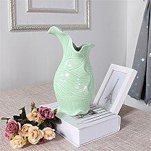 Moderne Keramik Vase Wohnzimmer Restaurant Doppelzimmer Alice Inhaber Vase Vase, C, Grün für Mittelstücke Wohnzimmer Weihnachten Geburtstag Hochzeit Party Geschenk Desktop Home Decor