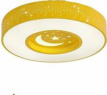 Moderne Kinder Kinderzimmer Lampe Gelb Stern Mond