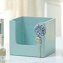 Moderne kreative kosmetik aufbewahrungsbox harz einfache desktop hause maske finishing box hautpflege produkte racks kosmetik Veranstalter , a small hydrangea makeup box