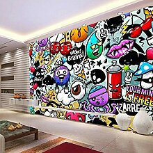 Moderne kreative Kunst Graffiti Wandbild Tapete