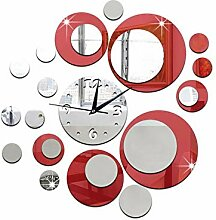 Moderne Kreise Spiegel Stil Acryl Wanduhr