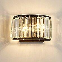 Moderne Kristall LED Wandleuchte, Black Metal