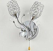 Moderne Kristall Wandleuchte mit 2 LED Floral
