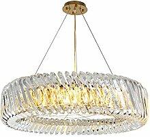 Moderne Kristallleuchter runde LED Hang Lampe für