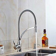 Moderne Küche Wasserhahn Pre spülen Messing Chrom ein Loch