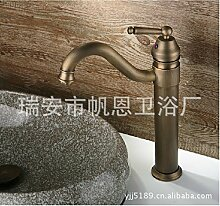 Moderne Kupfer Chrom Wasserhahn Bad, Waschbecken Wasserhahn warmes und kaltes, Spülbecken Armaturen