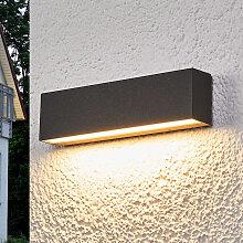 Moderne längliche Außenleuchte schwarz inkl. LED