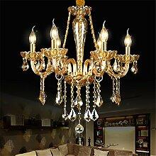 Moderne Lampe Lüster bernstein Kronleuchter aus