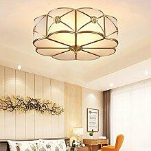 Moderne LED Deckenleuchten Foyer Kupfer lamparas