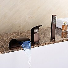 Moderne LED Wasserfall Badewanne Mischbatterie Mit