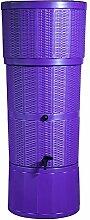 Moderne lila Rattan Effekt 150L Liter Designer-Regentonne mit passendem Ständer, umlenkventil, und Wasserhahn