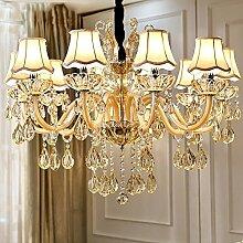 Moderne Luxus-Kristallleuchter-Beleuchtung für