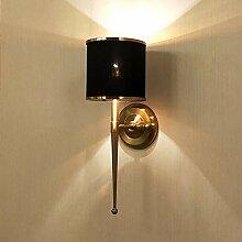 Moderne Luxus Metall Wandlampe Luxus Stoff