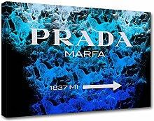 Moderne Malerei Prada Marfa 03, Druck auf Leinwand, Dekoration innen, Möbel Design 120x85 cm