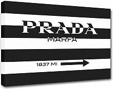 Moderne Malerei Prada Marfa 04, Druck auf Leinwand, Dekoration innen, Möbel Design 120x85 cm