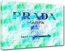 Moderne Malerei Prada Marfa 08, Druck auf Leinwand, Dekoration innen, Möbel Design 100x70 cm