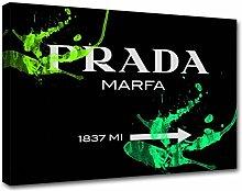 Moderne Malerei Prada Marfa 09, Druck auf Leinwand, Dekoration innen, Möbel Design 100x70 cm