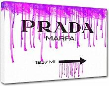 Moderne Malerei Prada Marfa 10, Druck auf Leinwand, Dekoration innen, Möbel Design 40x30 cm