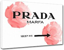 Moderne Malerei Prada Marfa 13, Druck auf Leinwand, Dekoration innen, Möbel Design 150x105 cm