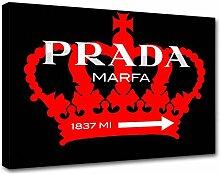 Moderne Malerei Prada Marfa 14, Druck auf Leinwand, Dekoration innen, Möbel Design 120x85 cm