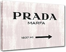 Moderne Malerei Prada Marfa 15, Druck auf Leinwand, Dekoration innen, Möbel Design 100x70 cm