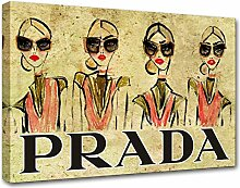 Moderne Malerei Prada Marfa 24, Druck auf Leinwand, Dekoration innen, Möbel Design 150x105 cm