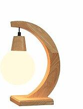 Moderne Massivholz Glas Tischlampe, kreative