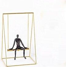 Moderne Minimalistische Dekoration Heimtextilien Studien Dekoration Wohnzimmer Dekoration Handwerk,Gold19*15*30cm