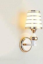 Moderne minimalistische Glas Wand Lampe Schlafzimmer Nachttisch Leselampe Wohnzimmer Korridor Hotel Beleuchtung Hochzeit Zimmer Kreative LED Energie sparen Wand Lampe (Roségold)