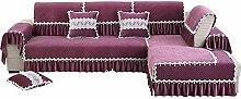 Moderne minimalistische Jahreszeiten Slip Sofa Kissen/ continental Plüschsofa Handtuch-B 105x160cm(41x63inch)