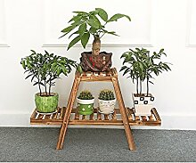 Moderne minimalistische Massivholz Blumenregal Mehrschichtige Blumenregal Boden Typ Blumenregal Balkon Boden Pflanzer Regal Einfache und kreative Wohnzimmer Indoor Flower Rack ( größe : A )