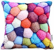 Moderne minimalistische Mode Umarmung Kissenbezug/Warme Wolle bedruckten Kissen/Sofa-Bett Kissen-B 60x60cm(24x24inch)VersionB