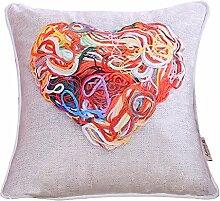 Moderne minimalistische Mode Umarmung Kissenbezug/Warme Wolle bedruckten Kissen/Sofa-Bett Kissen-D 45x45cm(18x18inch)VersionA