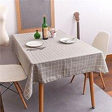 Moderne Minimalistische Plaid Tischdecke