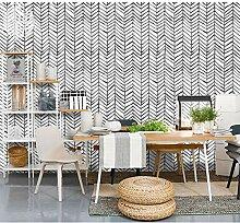 Moderne, minimalistische Schwarz-Weiß-Tapete,