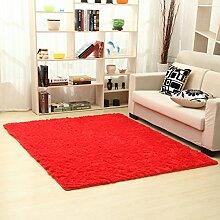 Moderne minimalistische Seide Haar Verdickung Teppich/Schlafzimmer Wohnzimmer Couchtisch Bett decken-D 80x160cm(31x63inch)