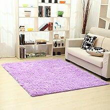 Moderne minimalistische Seide Haar Verdickung Teppich/Schlafzimmer Wohnzimmer Couchtisch Bett decken-C 120x160cm(47x63inch)