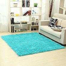 Moderne minimalistische Seide Haar Verdickung Teppich/Schlafzimmer Wohnzimmer Couchtisch Bett decken-E 63x160cm(25x63inch)