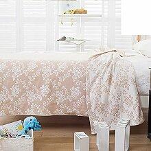 moderne minimalistische Stil Blumen/Blumen 100% Baumwolle Sofadecken-D 150*200cm(59x79inch)