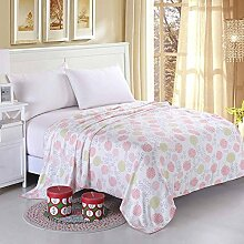 moderne minimalistische Stil Blumen/Blumen 100% Baumwolle Sofadecken-A 140x190cm(55x75inch)