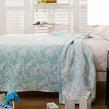 moderne minimalistische Stil Blumen/Blumen 100% Baumwolle Sofadecken-B 180*220cm(71x87inch)