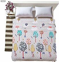 moderne minimalistische Stil Blumen/Blumen Einfarbig Gestreift Polyester Sofadecken-I 150*200cm(59x79inch)