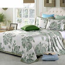 moderne minimalistische Stil Blumen/Blumen Gestreift Polyester Sofadecken-C 230x250cm(91x98inch)