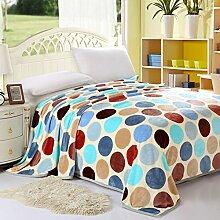 moderne minimalistische Stil Blumen/Blumen Gestreift Polyester dicker Sofadecken-A 150*200cm(59x79inch)