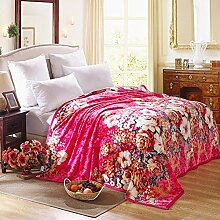 moderne minimalistische Stil Blumen/Blumen Gestreift Polyester dicker Sofadecken-J 180x200cm(71x79inch)