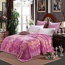 moderne minimalistische Stil Blumen/Blumen Gestreift [verdicken] Polyester Sofadecken-E 200x230cm(79x91inch)