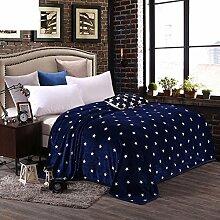moderne minimalistische Stil Blumen/Blumen Gestreift [verdicken] Doppelschicht Polyester Sofadecken-A 120x200cm(47x79inch)120x200cm(47x79inch)
